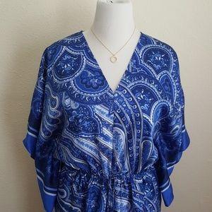 New Ralph Lauren Blue Paisley Dress
